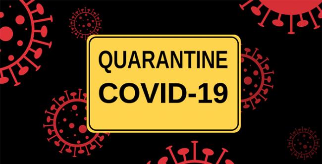 coronavirus quarantena nero giallo