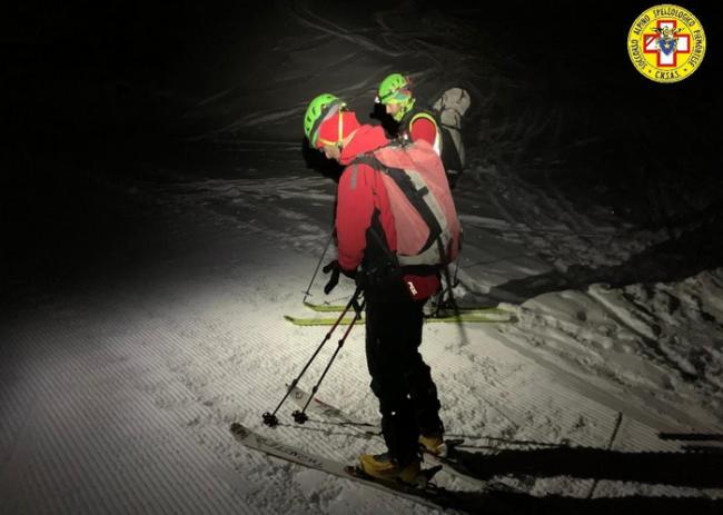 notte neve sci