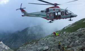 elicottero 118 verricello pietraia