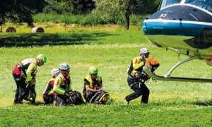 elicottero soccorso salita