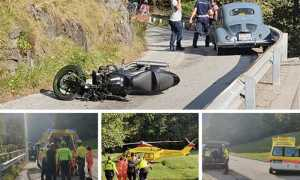incidente moto auto epoca