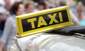 taxi scritta